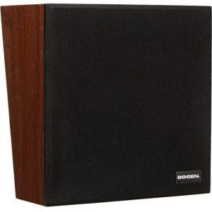 Bogen Communications WBS8T725V 8″ 4W Loudspeaker in Wall Baffle (Walnut, 6″ Wire Leads, Volume Control)