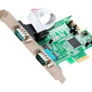StarTech PEX2S553 2 Port Native PCI Express RS232 Serial Adapter Card
