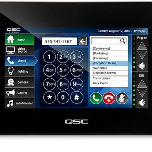 QSC TSC-7w-BK 7-INCH POE Touch Screen Controller For in wall mounting, BLACK
