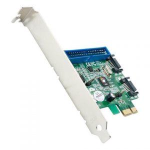 SIIG SC-SA0E12-S1 DP SATA 6Gb/s 2S1P PCIe Card and 1 PATA Connectors