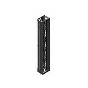Chatsworth 12833-703 Vertical Cabling Section; 6″W x 7'H x 9.3″D; Black