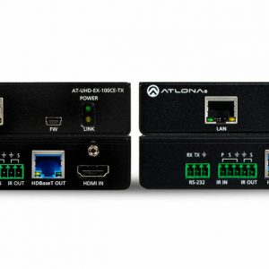 ATLONA AT-UHD-EX-100CE-KIT 4K/UHD 328FT (100M) HDBASET TX/RX WITH ETHERNET, CON