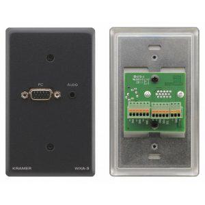 KRAMER WXA-3 PASSIVE WALL PLATE – 15-PIN HD & 3.5MM STEREO AUDIO
