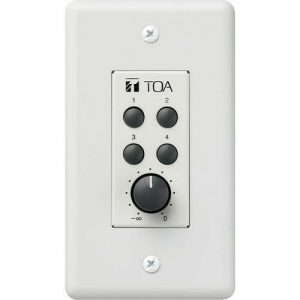 TOA ZM-9002 REMOTE PANEL, 4-SWITCHES, 1-VOLUME CONTROL